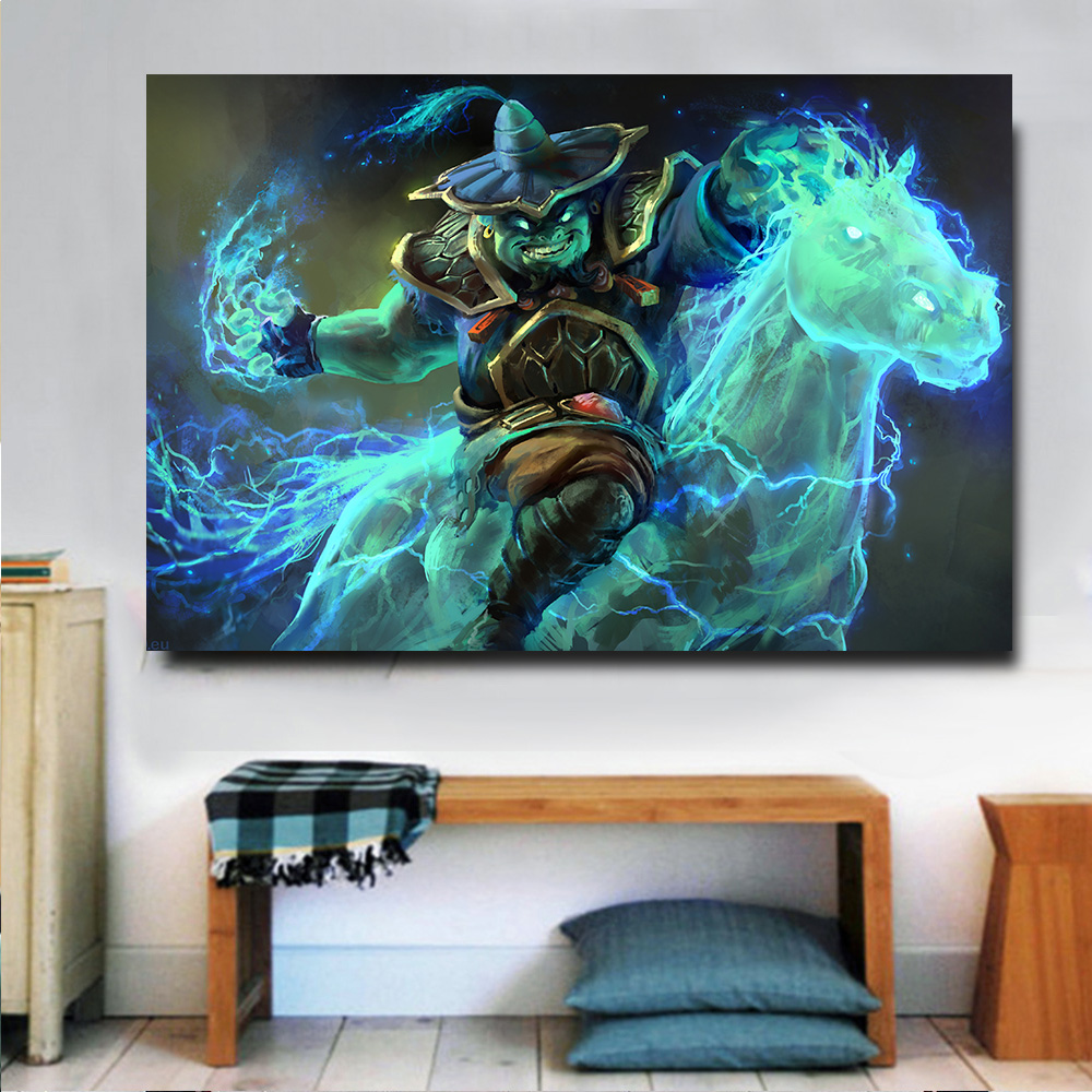 Embelish 1 Pieces Man With Fire Horse Game Character HD Canvas Oil Painting For Living Room Wall Art Pictures Home Decor Posters
