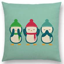 CV Hot Sale Cushion Cover Super Cute Cartoon Animals Reindeer Unicorn Penguin etc