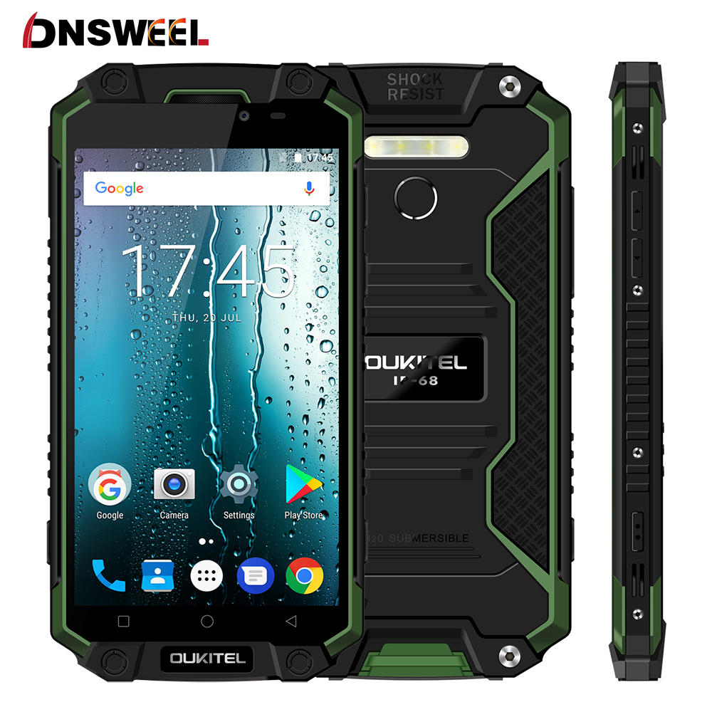 "10000mAh Big battery OUKITEL K10000 Max IP68 Waterproof 4G Smartphone Android 7.0 Octa Core 3GB+32GB 16MP 5.5""FHD Mobile Phone"
