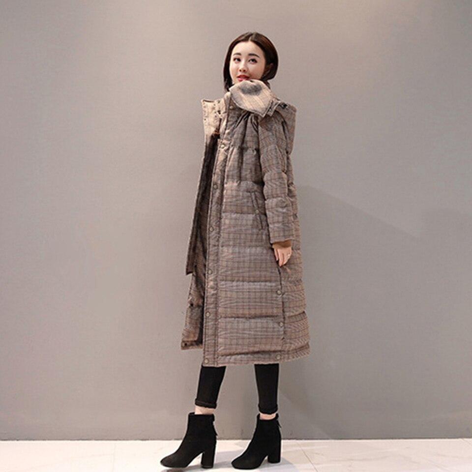 Femmes Haut Z1021 D'hiver Épais Harajuku Veste À Long Ventes Vers 2018 Manteau Mode Zyfpgs Capuchon Le Pardessus Duvet Khaki Coton Bas De npROI5WxF