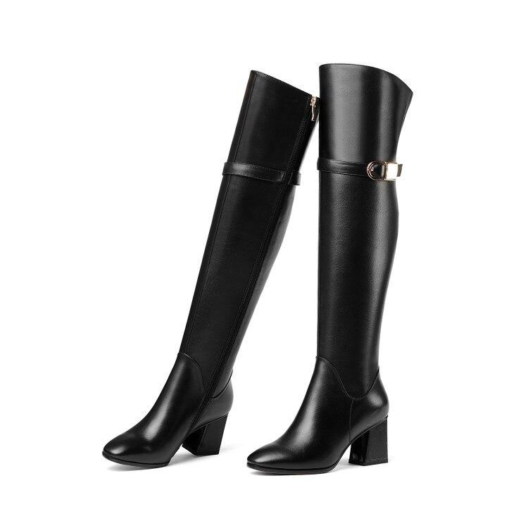 4 Nouvelles Talons De Bout Carré Taille 5 the Nous Oi0044 genou Initiale Femme L'intention Mode Femmes Noir Bottes Over Carrés 8 Chaussures F54xUPqSAw