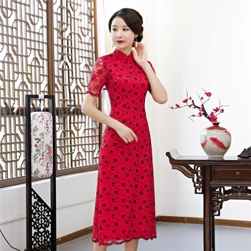 649a10f5f10e Shanghai Story 2018 Vietnamese ao dai traditional Clothing Qipao long Chinese  dress robe chinoise modern cheongsam