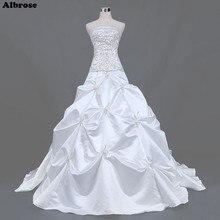 Buy taffeta wedding dress and get free shipping on aliexpress albrose sexy strapless white sequined wedding dresses junglespirit Choice Image