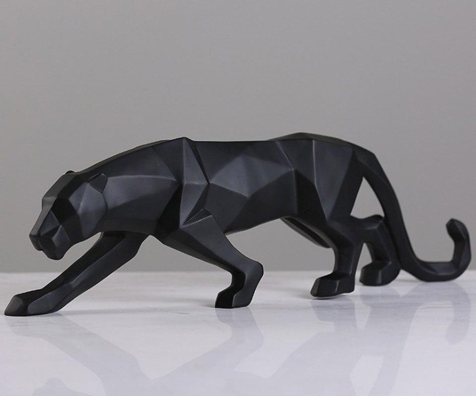 BUF Müasir Abstrakt Qara Panther Heykəli Qatran bəzəkləri Ev - Ev dekoru - Fotoqrafiya 3