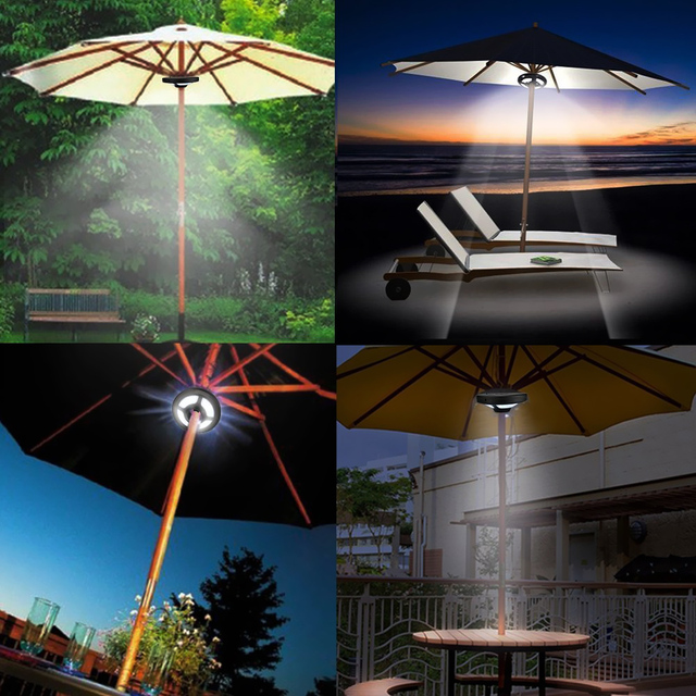 High Brightness 36 Leds Rechargeable Patio Portable Umbrella Light For Garden Camping Tent Outdoor Use With Usb Cable