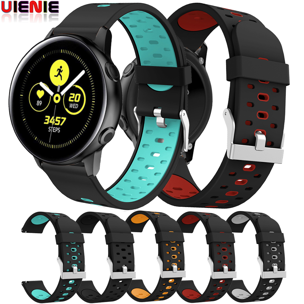 Watch Band For Samsung Galaxy Watch Active 2 Gear S2 Sport Strap Silicone Bracelet For Garmin Vivoacitve 3 Watch Accessories