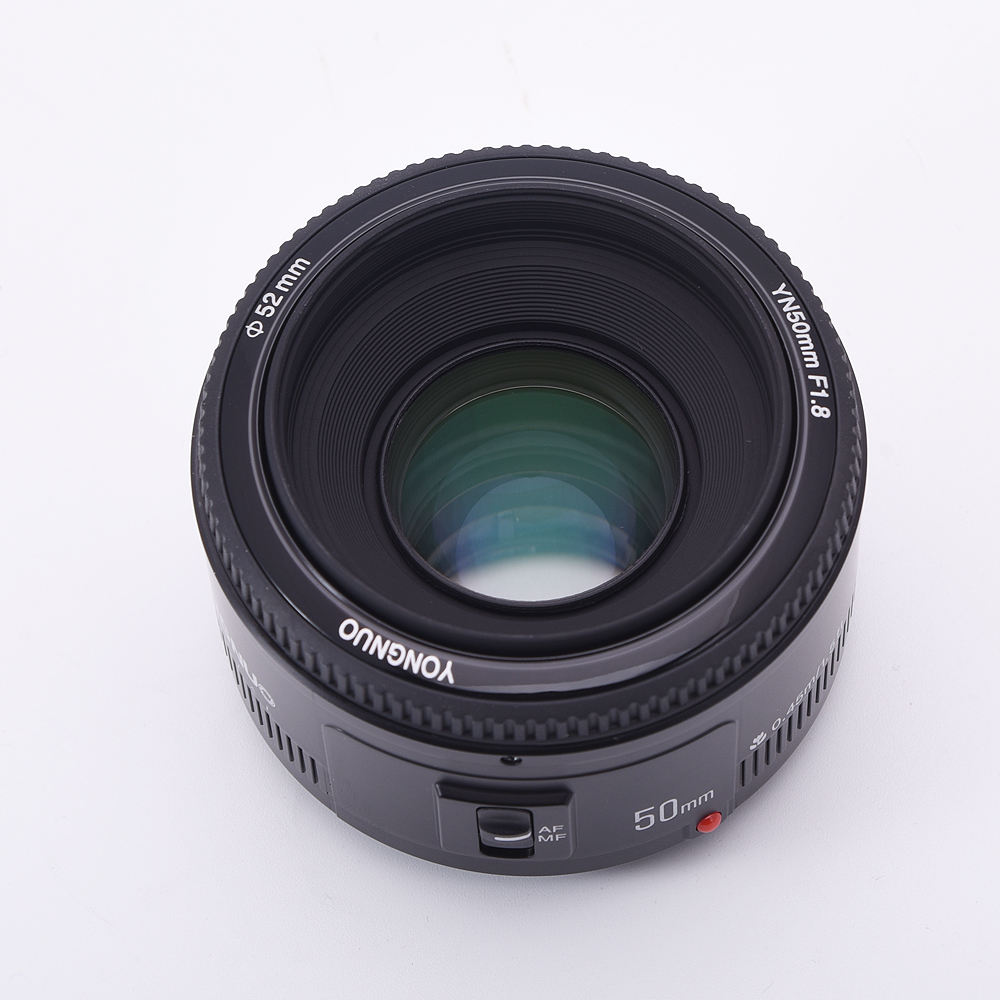 <font><b>Yongnuo</b></font> YN50mm F1.8 lens AF/MF with Electronic Auto Focus Adapter For Canon M M2 M3 M5 m6 Camera Large Aperture image