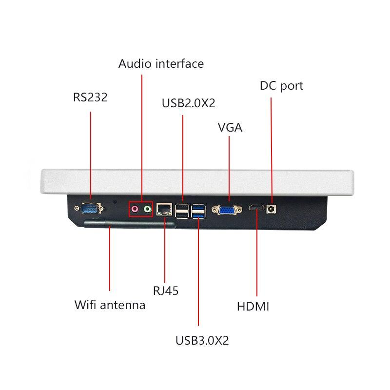 Lecteur multimédia de signage numérique de bâti de mur de kiosque d'information d'affichage de la publicité HD lcd d'intérieur de 12 pouces