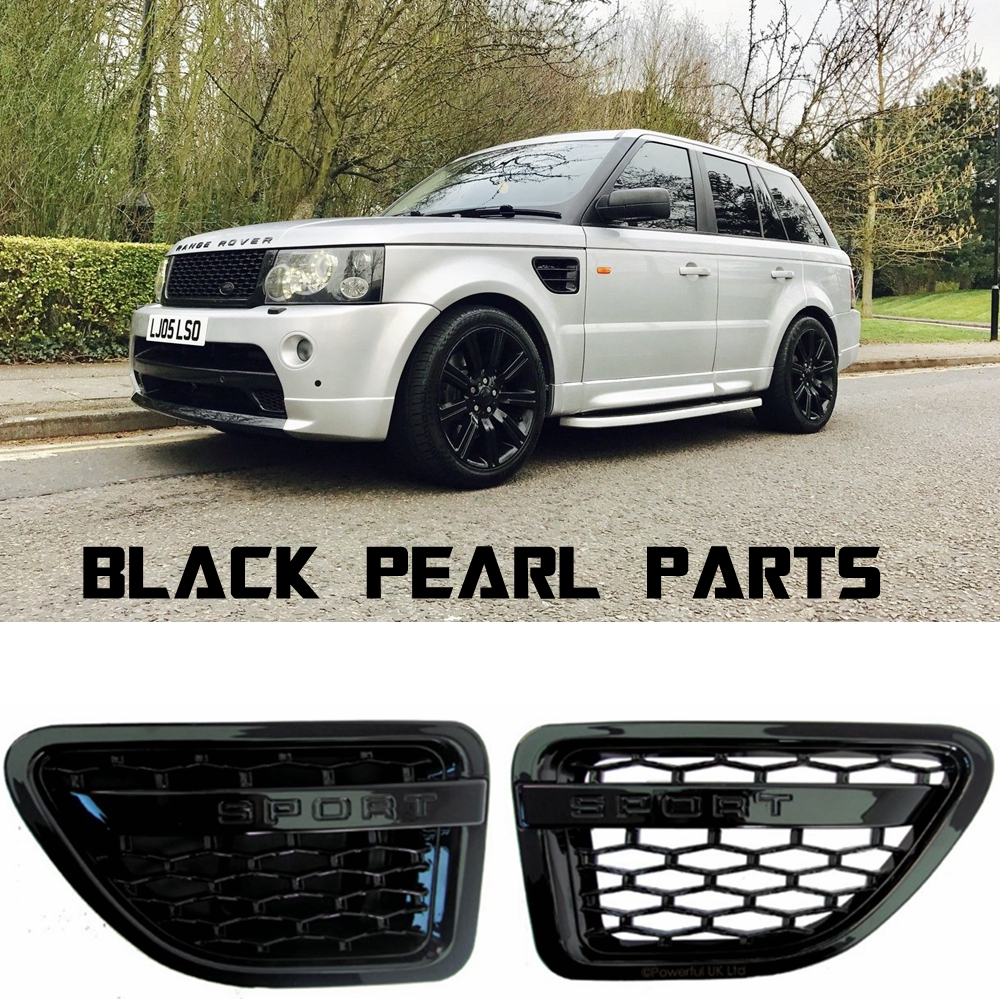 цена на Car auto parts tuning air side vents black grey silver chrome pair ABS for Land Range Sport Rover 2005-2009 Wing SVSPS parts