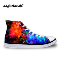 doginthehole Women Vulcanized Shoes for Teenager Girls Classic Canvas Shoes Ladies Galaxy Flat Shoes Feminine Fashion Sneakers