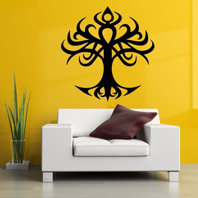 tree of life tattoo tribal removable wall stickers for living room