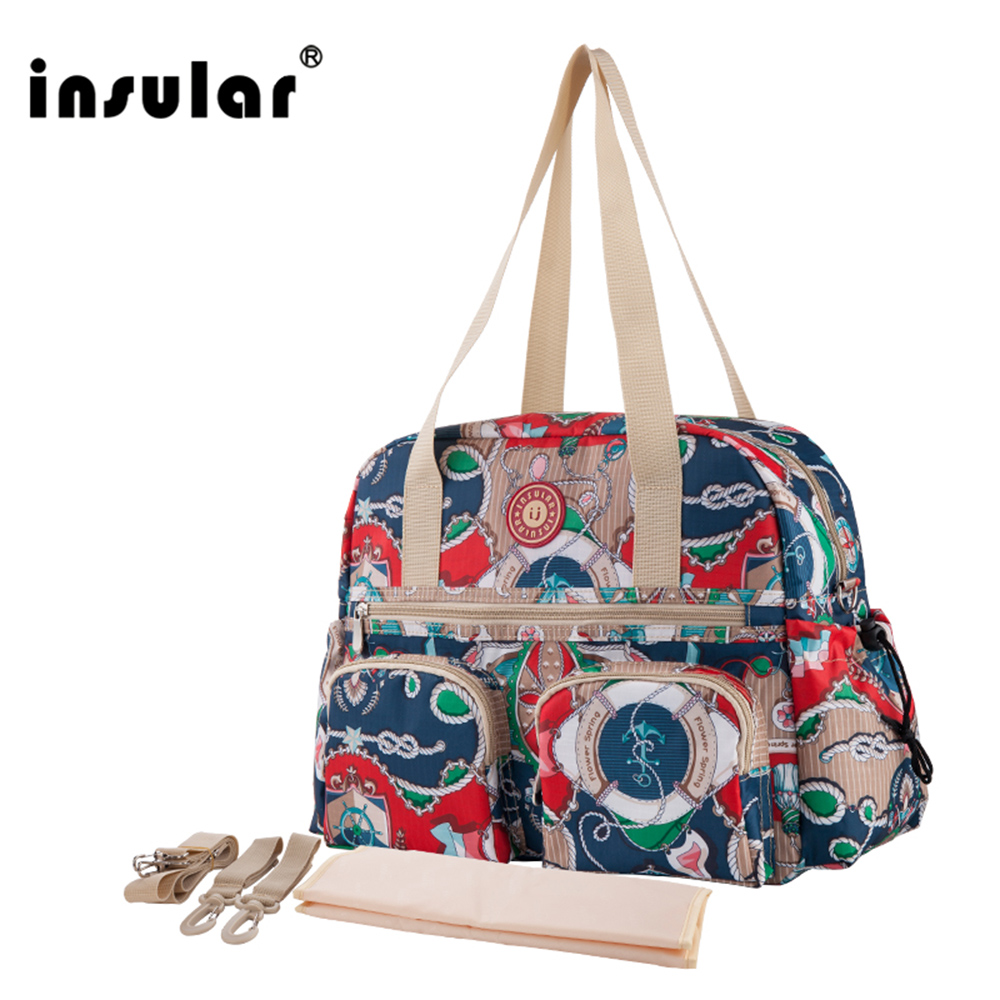 W nowym stylu Insular z nadrukiem modna torba na pieluchy dla - Pieluchy i Trenowanie toalety - Zdjęcie 2