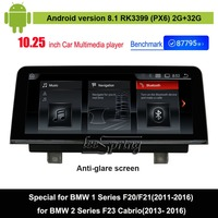 Android 8.1 Car Multimedia Player for BMW 1 Series F20/F21(2011 2016)/BMW 2 Series F23 Cabrio(2013 2016) Auto GPS Navigation