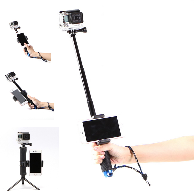 stabilizer portable stand holder selfie stick for gopro hero action digital camera for iphone 4. Black Bedroom Furniture Sets. Home Design Ideas