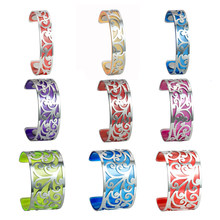 Legenstar Cuff Bracelets & Bangles Femme Life Flower Stainless Steel Bangles DIY Pulseiras Summer Charm Vitality Jewelry 2019(China)