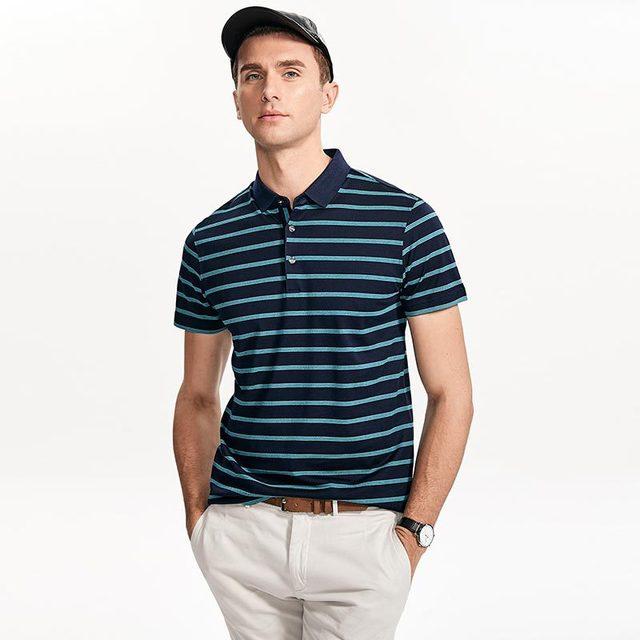 2019 Nuovi Uomini di Alta Qualità T Shirt di Seta degli uomini Breve maglietta del manicotto di Estate di Seta Uomo t shirt di Cotone della banda di sesso maschile t shirt - 4