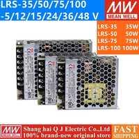 Decir bueno LRS-35 50 75 100 W 3,3 V 5V 12V 15V 24V 36V 48 V 48 V meanwell LRS-100 3,3 5 12 15 24 36V 48 V 100 W de potencia de conmutación de alimentación