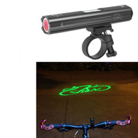 New Cycling Bicycle Laser Headlight USB Charging Laser Warning Front Light Night MTB Road Cycling Accessories Front Lamp Black