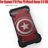 Fashion Cool US Captain Aluminum Metal Case For Huawei P10 Plus P9 Mate9 Honor 8 9