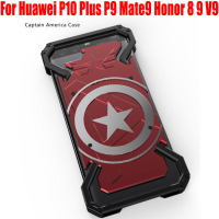 Fashion Cool US Captain Aluminum Metal Case For Huawei P10 Plus P9 Mate9 Honor 8 9