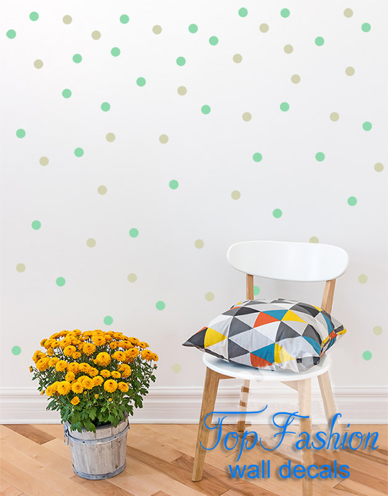 modern wall decals kids promotionshop for promotional modern wall  - polka dots wall decal diy color  polka dot small polka dots decal kidswall decoration boys room baby room  inch dots
