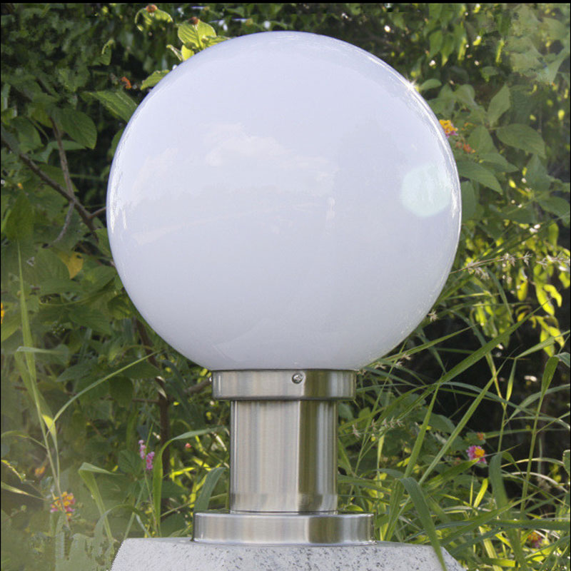 Outdoor ball shape light garden fence boundary wall chapiter lamp villa park pillar lighting landscape decoration