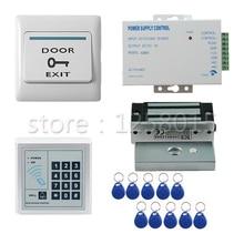DIY 125KHz RFID access control system kit set for 1 door control keypad+60kg magnetic lock+door switch+power+10 key fob