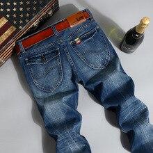 CONNER LEE jeans männer Hohe qualität gerade jeans berühmte marke männer hosen männlichen baumwolle mode jean pantalones vaqueros hombr junge