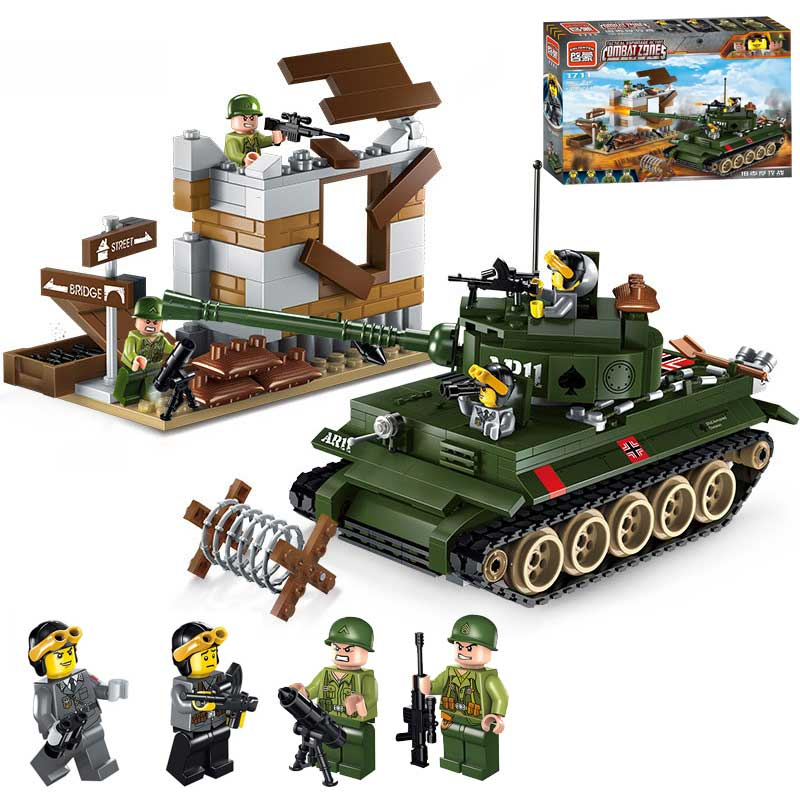 Classic World War 2 Panzerkampfwagen Tiger Tank Model Mini US Army Soldier Figures Bricks Toy For Boy Gift Compatible Enlighten classic world классический самолет 27 деталей