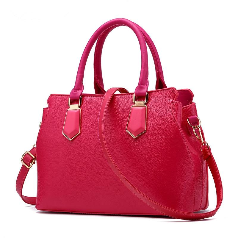 купить Fuchsia Fashion PU Women's Shoulder Bag Clutch Elegant Office Lady Handbag Crossbody Messanger Zipper недорого
