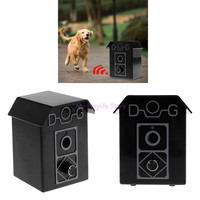 Pet Dog Outdoor Bark Stopper Stop Barking Device Ultrasonic Dogs Puppy Anti Bark Control System Hanging Training Product C42