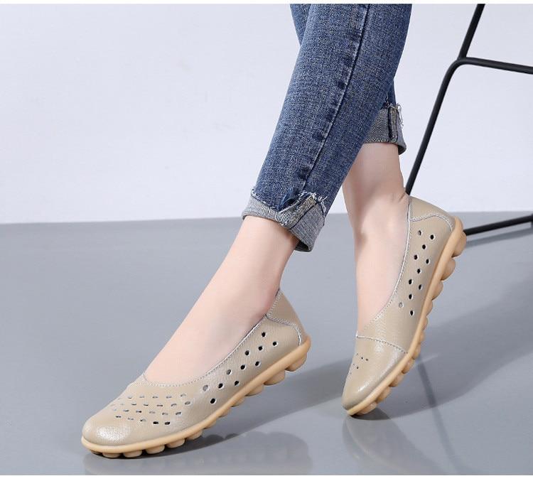 AH 5929-1-2019 Summer Woman Flats Cut-Outs Women Loafers-9