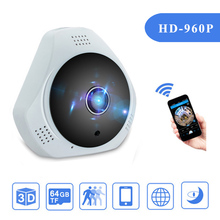360 Degree MINI HD 960P Wireless WiFi Panoramic IP Camera Home Security Surveillance Real 3D Fisheye Lens Camera Video Alarm Hot