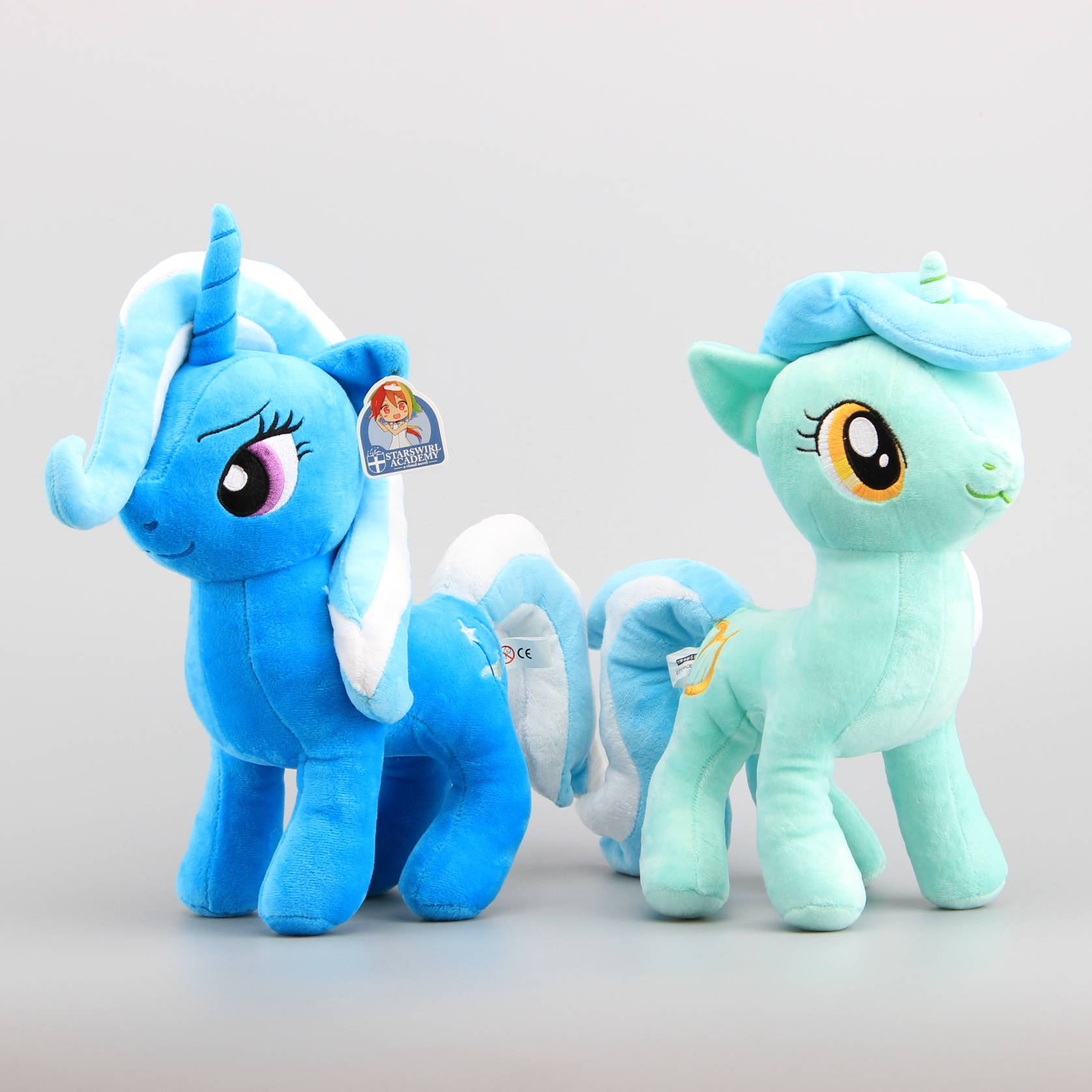 trixiemodel!!! @@@ 1 NEW Cute Horses Lyra Heartstrings Trixie Stuffed Animals Plush Toy 30-33 CM  Girls Birthday