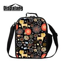 Dispalang персонализированные животных рисунок обед мешок для студентов тепловой изоляцией lunch box хранения пикник сумка переносные сумки-холодильники