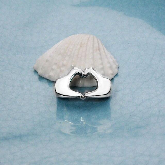 Fit Originale Pandora Braccialetto di Fascino Autentico Argento Sterling 925 A Mano a Mano Cuori Amore Branelli di Fascino Gioielli FAI DA TE Berloque