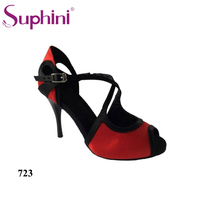 Free Shipping Suphini Ankle Strap Design Dance Shoes Suphini Tango Dance Sandals Shoes
