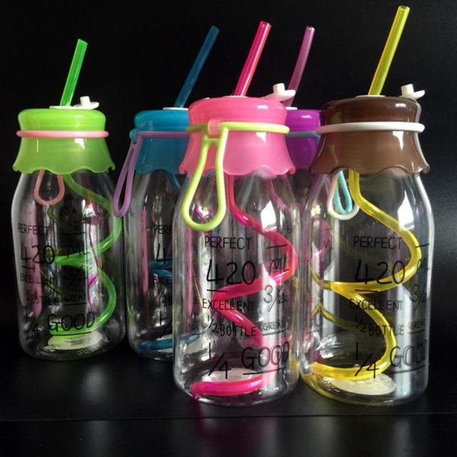 Transparent Glass Water Bottle