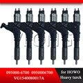 Оригинальные Common Rail запасные части инжектор 095000-6700 (R61540080017A) Авто инекция топлива 095000-6701 095000-6702 для TOYOTA-HOWO
