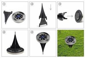 Image 5 - Viele Leds Boden Licht Solar Powered Garten Landschaft Rasen Lampe Begraben Licht Im Freien Straße Treppen Decking Licht Mit Licht Sensor