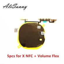 AliSunny 5 adet kablosuz şarj çipi NFC bobin için iPhone X şarj paneli Sticker WPC Pad hacim flex kablo parçaları