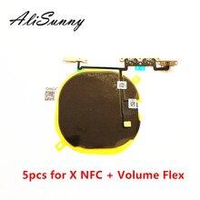 AliSunny 5pcs ชิปชาร์จไร้สาย NFC สำหรับ iPhone X Charger แผงสติกเกอร์ WPC Pad Volume FLEX CABLE อะไหล่