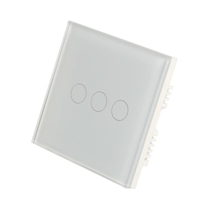 UK Standard WiFi Smart 3 Gang Switch Touch Panel APP Control Timing Function Waterproof Crystal Tempered Glass Wall Light Switch sonoff t1 smart wifi rf app touch control wall light switch 1 2 3 gang 86 type uk panel wall touch light switch alexa nest