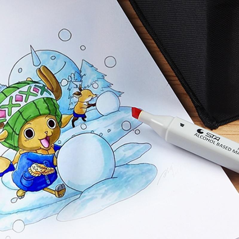 Marcadores da Arte 168 cores sta dirigido dobro Conjunto Estilo : Animation&product&clotehes&landseape