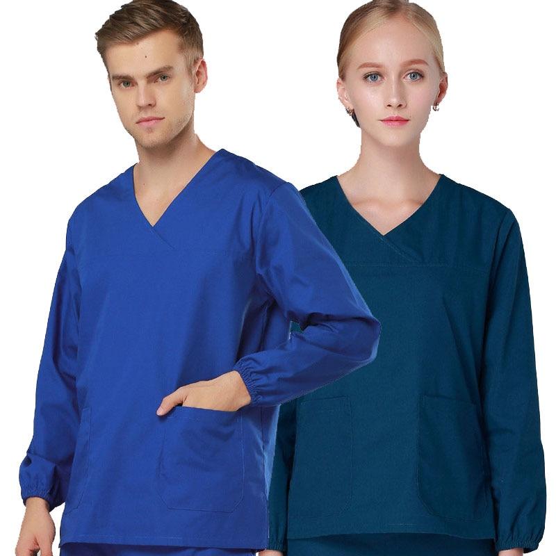 2017 Scrubs Medical Uniforms Women Winter Clothing Mock Wrap Top&Pant Drawstring Hospital Lab Dental Work-wear Medical Uniformas