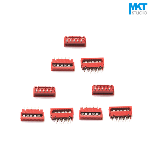 10Pcs Micromatch Red 2.54mm Pitch IDC Wire Terminal Connector Sample 4P 6P 8P 10P 12P 14P 16P 18P 20P 22P 24P 26P