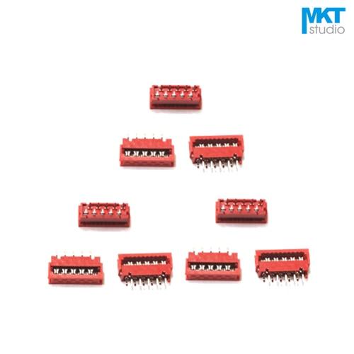 10Pcs Micromatch Red 2.54mm Pitch IDC Wire Terminal Connector Sample 4P 6P 8P 10P 12P 14P 16P 18P 20P 22P 24P 26P
