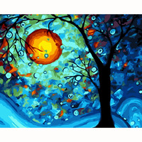 The Tree Of Dreams Picture On Wall Acrylic Paint By Numbers Diy Painting By Numbers Christmas