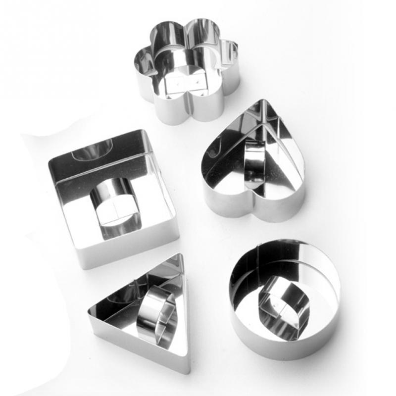 Pastry <font><b>Round</b></font> Square Heart Forms For <font><b>Cheese</b></font> Pan Mousses Cake Mould Sectional Shape Baking Dish Dessert Ring Bakeware <font><b>Mold</b></font> image