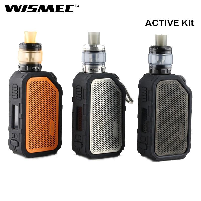Kit actif d'origine WISMEC avec boîte ACTIVE MOD Vape 80 W et Amor NS Plus Kit de vapoteur de Cigarette électronique atomiseur avec haut-parleur Bluetooth